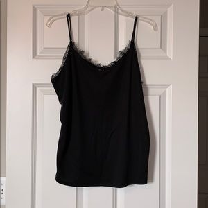 NWT A New Day Black Lace Top Camisole
